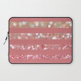 Champagne Tango Stripes Laptop Sleeve