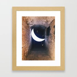 Dance by the light of the moon Framed Art Print