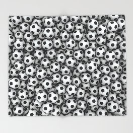 Soccer balls Throw Blanket