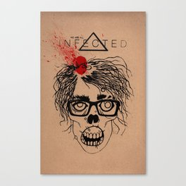 Mild Mannered Zombie Canvas Print