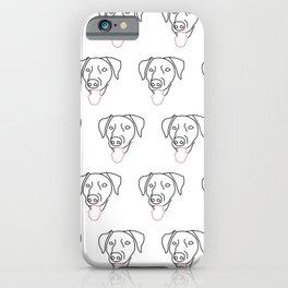 Labrador Line Drawing iPhone Case