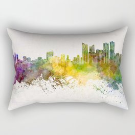 Busan skyline in watercolor background Rectangular Pillow