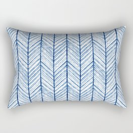 Shibori Herringbone Pattern Rectangular Pillow