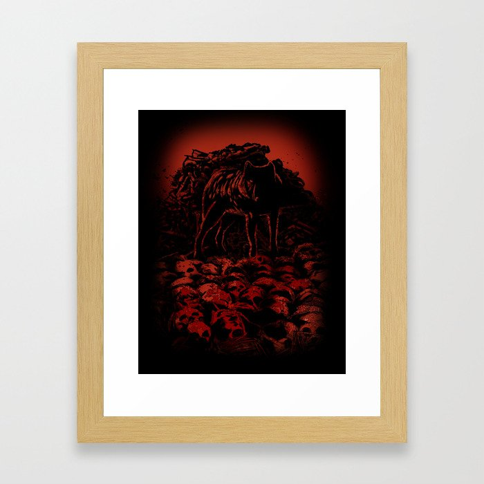 WOLFTHRONE Framed Art Print