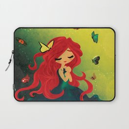 This Girl Only Sleeps with Butterflies Laptop Sleeve