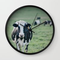 number Wall Clocks featuring Number 825 by Laura Ruth