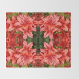"""A Gathering of Lilies"" Remix - 5 (1-1) [D4471~15] Throw Blanket"