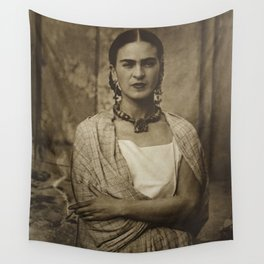 Frida Kahlo Vintage Wall Tapestry