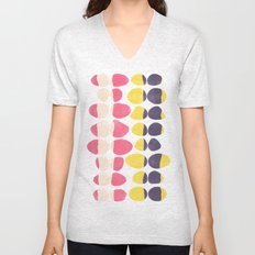 Painted Pebbles 3 Unisex V-Neck