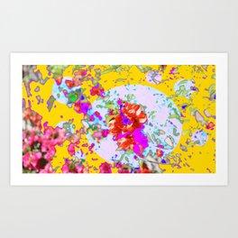 Flower Montage Yellow Art Print