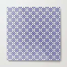 Seamless pattern with blue figures Metal Print