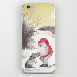 Gnome and mouse iPhone Skin