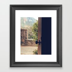 the door of the past Framed Art Print