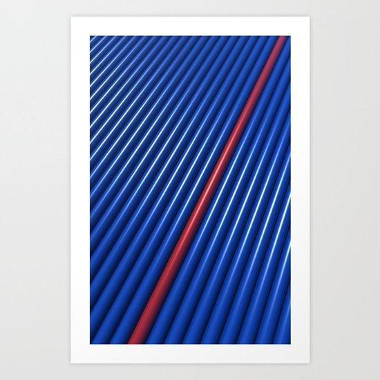Blue/Red Converging Art Print