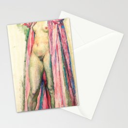 Woman in Red Peignoir by Théo van Rysselberghe Stationery Cards