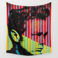 actor Wall Tapestries featuring Idols - James B Dean by Fernando Vieira