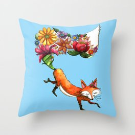 Hunt Flowers Not Foxes Three Throw Pillow