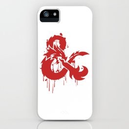 Dungeons & Dragons Stylized Logo (red) iPhone Case