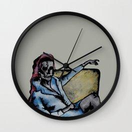 Skull Lady  Wall Clock