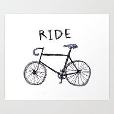 bike ride Art Print