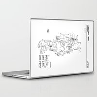 nasa Laptop & iPad Skins featuring NASA Space Suit Patent  by Elegant Chaos Gallery