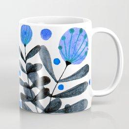 Flowers and foliage - indigo and purple Coffee Mug