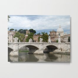 Vittorio Emanuele II bridge and Vatican city Metal Print