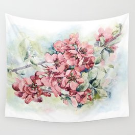Flowering Japanese quince Wall Tapestry
