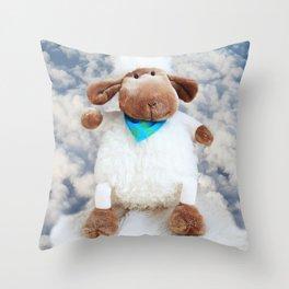 little sheep Throw Pillow