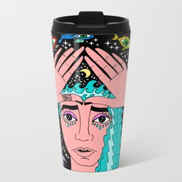 law of attraction Metal Travel Mug