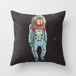 Slothstronaut Throw Pillow