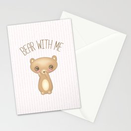 Bear With Me - Creepy Cute Teddy Stationery Cards
