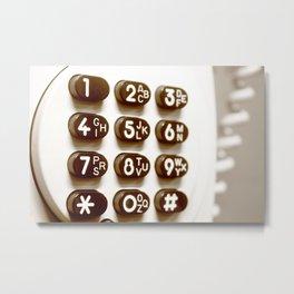Old retro phone keypad Metal Print