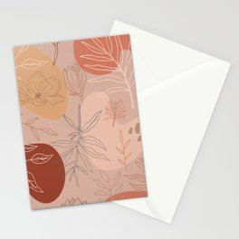 Pink Abstract Desert Pattern Stationery Cards