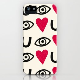 Eye Heart U iPhone Case