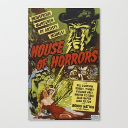 House of Horrors, vintage horror movie poster Canvas Print