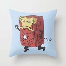 Refrig'r-Iron-Man Throw Pillow