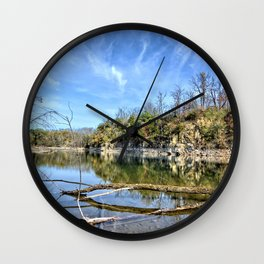 Old Stone Quarry Wall Clock