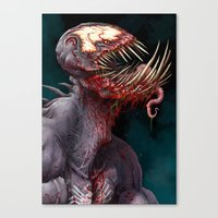 venom Canvas Prints featuring VENOM by The Art of Austen Mengler