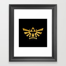 Zelda Golden Hylian Crest Framed Art Print