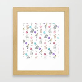 Animals with Balloons Framed Art Print