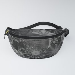 Fancy Sunset Silhouette on a grey day Fanny Pack