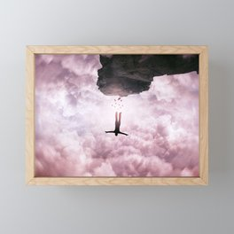 falling down Framed Mini Art Print