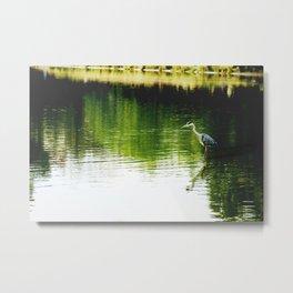 Fishing in Paris Metal Print