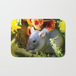 Sweet Floral Rat Bath Mat