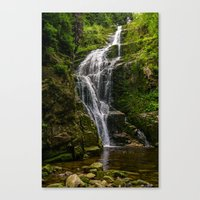 waterfall Canvas Prints featuring Waterfall by Pati Designs & Photography