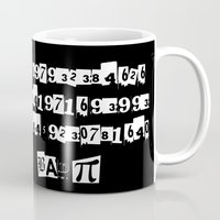 pi Mugs featuring Bad Pi by mailboxdisco