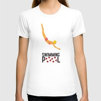 pool T-shirts featuring Swimming Pool by Studio du flamant rose