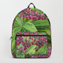 Pink meets Green #1 #floral #foliage #art #society6 Backpack
