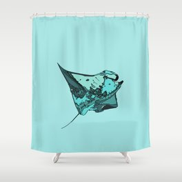 Manta Ray Manta birostris Shower Curtain